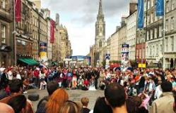 On the Royal Mile at festival time