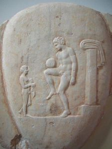 Practicing at ball - National Archaeological Museum in Athens